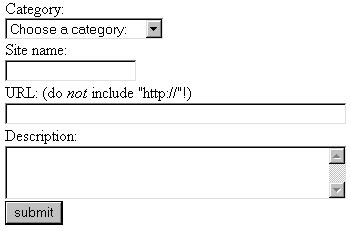 Форма, отображаемая страницей add_bookmark.php