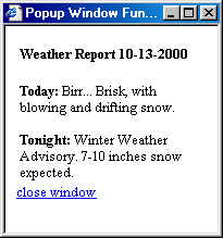 Сводка погоды во временном окне
